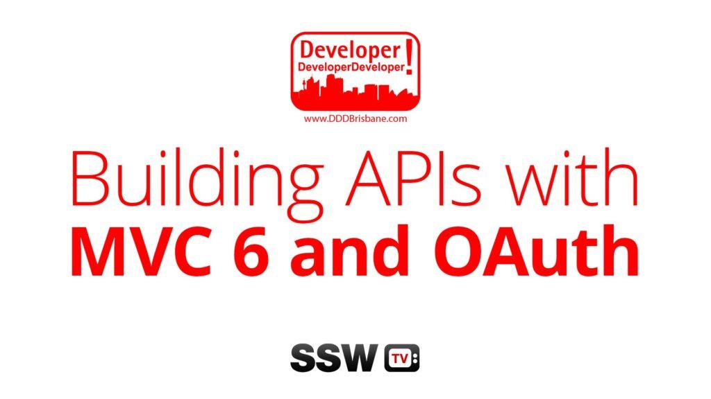 Building APIs with MVC 6 and OAuth | Filip Ekberg at DDD Brisbane 2015